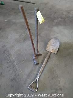 (2) Sledgehammers & (1) D-handle Spade Shovel