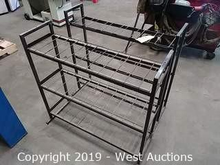 (2) Metal 3 Shelf Racks