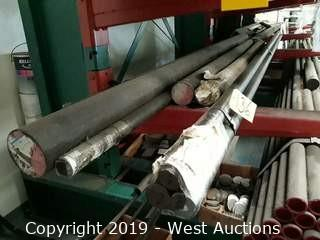 Steel Stock: Entire Rack Of Steel Stock, Various Sizes