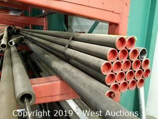 "Steel Stock: (21) Units Of 2⅛"" X 22' Steel Pipe And (8) Additional Units Of Steel Stock"
