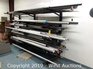 11' Wide Material Rack of Aluminum and Steel Stock
