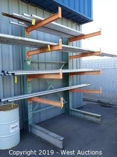 6½' Wide X 10' Tall Cantilever Material Rack
