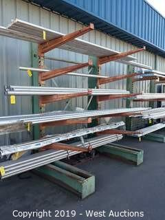 7' Wide X 9' Tall Cantilever Material Rack