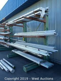 8' Wide X 8' Tall Cantilever Material Rack