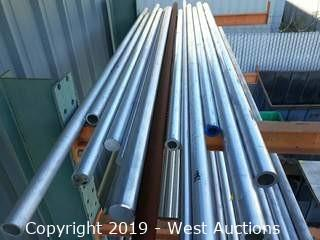 (12) 8' Aluminum Pipe And Bar Stock