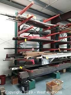 7' Wide X 12' Tall Cantilever Material Rack