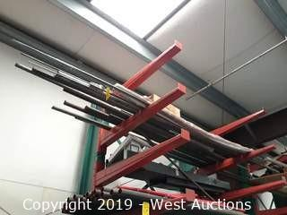 Steel Stock on Top of Rack: Pipe and Rod