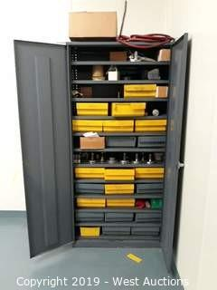7' Steel Cabinet with Finished Product and Tool Holders