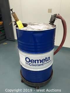 Omega Cooling Fluid Barrel with Cart and Barrel Pump