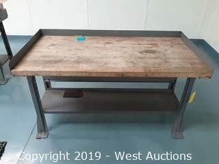 6' X 2½' Wood Top Work Bench