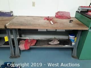 6' X 2½' Wood Top Work Bench (Contents Included)