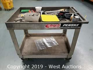 Rubbermaid Utility Cart (Contents Included)