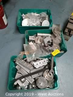(3) Bins Of Assorted Custom Made Aluminum Tooling