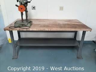 Wood Top Work Bench 6' x 3'