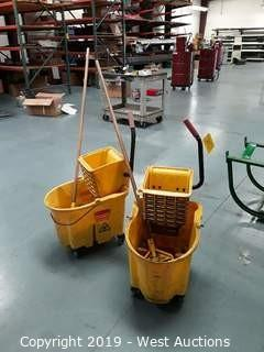 (2) Mop Buckets with Mops