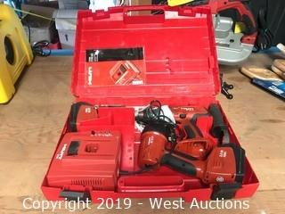 Hilti Hammer Rechargeable Flashlight And Drill Kit