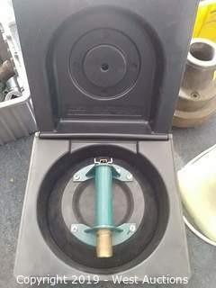 """Wood's powr-grip n5450 9"""" flat vacuum cup w/ metal handle"""