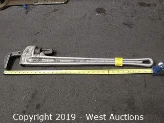 "Ridgid 836 36"" Aluminum Heavy Duty Pipe Wrench"