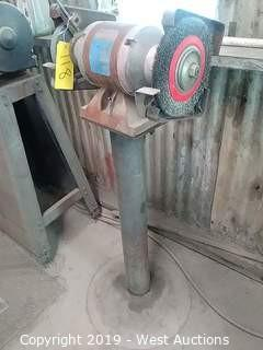 "Columbia 8"" Bench Grinder on 3' Pedestal"