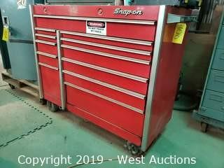 Snap-On 12-Drawer Tool Box and Contents of Wrenches, Ratchets, Screwdrivers, Drill, Dremel, More
