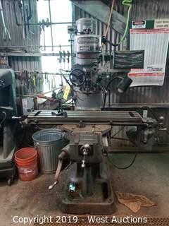 "Bridgeport 42"" Industrial Milling Machine With Digital Readout"