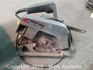 "Wards TPC-8124A Power-Kraft 7-1/2"" 2HP Circular Saw"