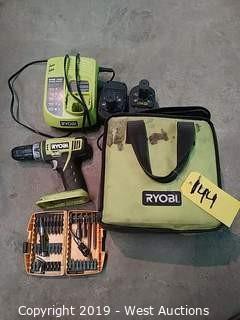 "Ryobi P202 1/2"" 2-Speed 18 Volt Cordless Drill-Driver"