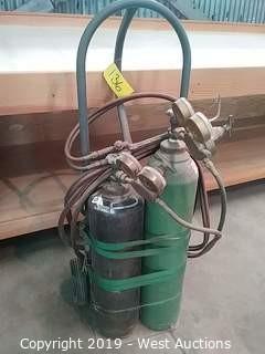 Acetylene & Oxygen Welding Cart
