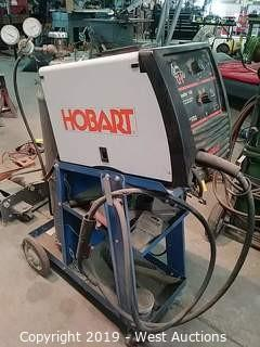 Hobart 500559 Handler 140 MIG Wire Welder on Cart with Canister and Gauges