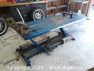 K&L Pneumatic Foot Operated Motorcycle Lift