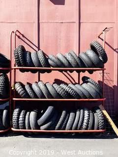 7' Wide 3 Tier Tire Rack