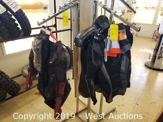 Contents of Rack; Motorcycle Clothing