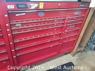 "Husky 41"" 13-Drawer Red Rolling Tool Box"