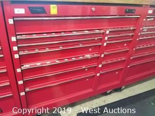 "Husky 41"" 13-Drawer Red Rolling Tool Box"