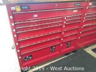 "Husky 41"" 13-Drawer Red Rolling Toolbox"