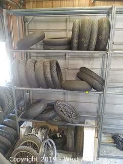 Steel Tire Rack, 10'H x 6'W