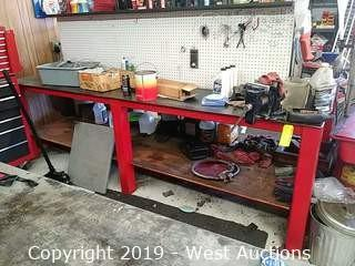 Heavy Duty Double Sided Steel Work Bench