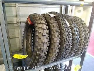 Shelf of (7) Assorted New Motorcycle Dirt Tires