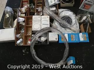 Bulk Lot: Box of Vintage British Motorcycle Parts Including Triumph