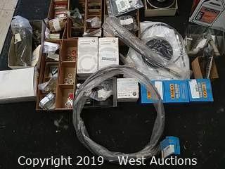 Bulk Lot: Box of Vintage British Motorcycle Parts Including Triumph