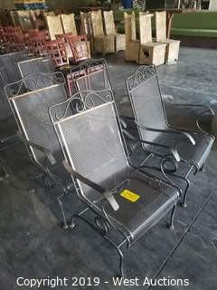 (4) Metal Rocking Patio Chairs