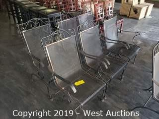 (6) Metal Rocking Patio Chairs