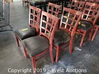 (4) Post-Modern Wooden Chairs