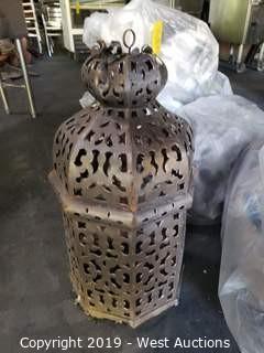 (6) Ornamental Brass Light Fixtures