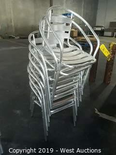 (9) Steel Chairs