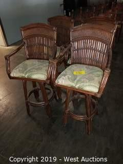 (4) Island-Style Barstool Chairs (with Padded Seats)