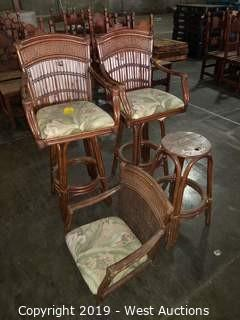 (3) Island-Style Barstool Chairs (with Padded Seats)