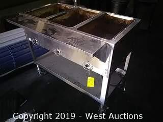 Duke E303SW Aerohot 3-Well Steam Table