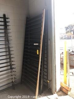"""(8) 3'6""""x8' Powder Coated Black Fence Panels"""