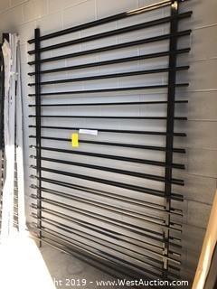 (2) 6'x8' Powder Coated Black Fence Panels